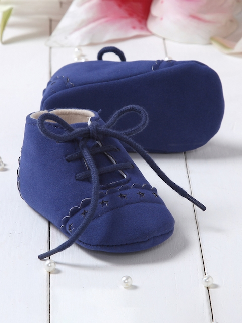 Walktrendy Unisex Kids Blue Lace-Up Booties
