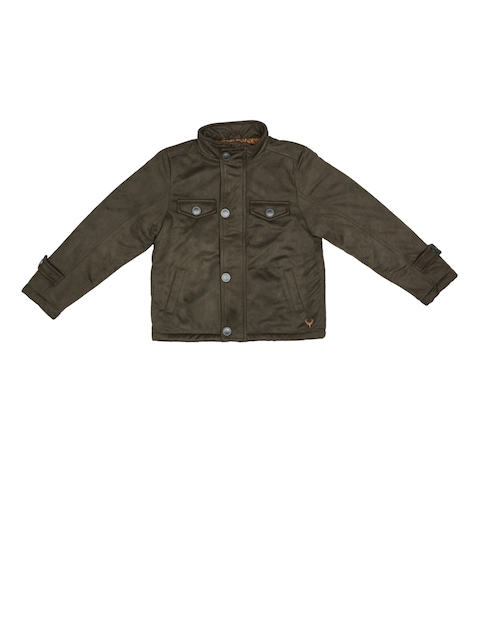 Allen Solly Junior Boys Brown Solid Tailored Jacket