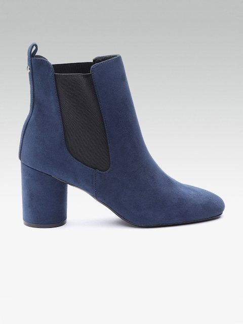 DOROTHY PERKINS Women Navy Blue Solid Heeled Boots