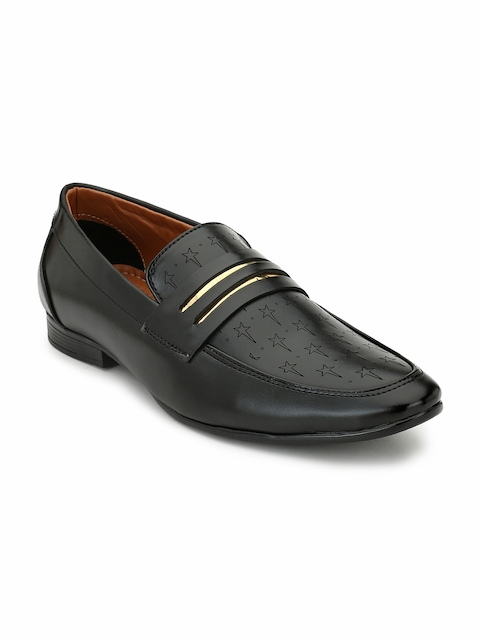 Eego Italy Men Black Slip-On Formal Shoes