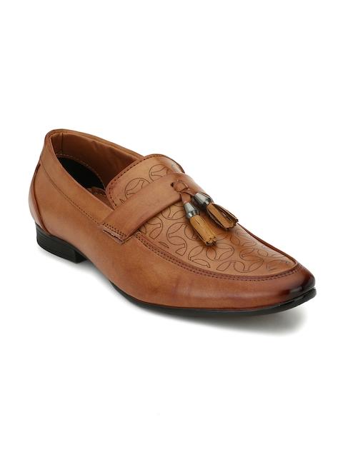 Eego Italy Men Tan Brown Semiformal Shoes