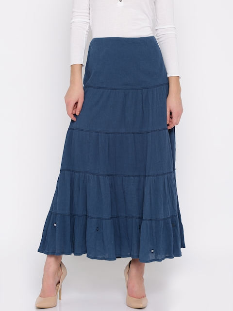 BIBA OUTLET Navy Maxi Skirt