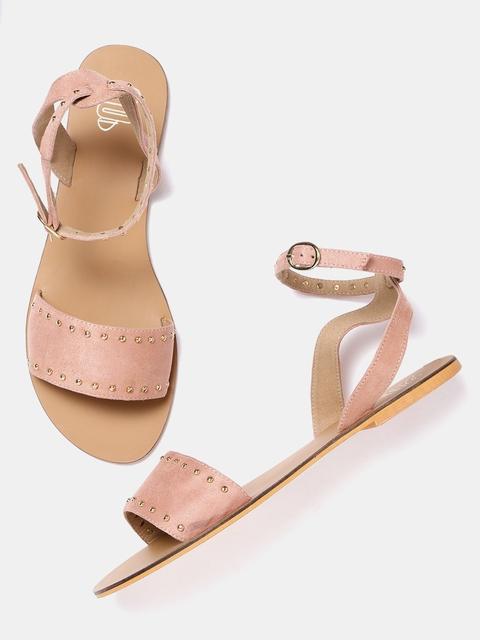 20Dresses Women Dusty Pink Solid Open Toe Flats