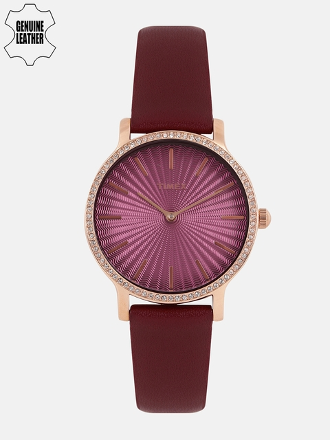 Timex Women Maroon Analogue Watch TW2R51100