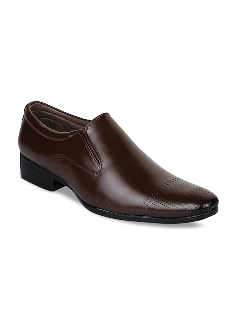 Bruno Manetti Men Brown Leather Formal Shoes