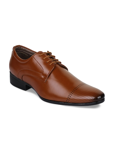 Bruno Manetti Men Tan Brown Synthetic Leather Formal Shoes