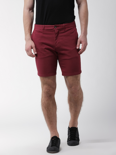 Tommy Hilfiger Men Rust Red Solid Regular Fit Shorts