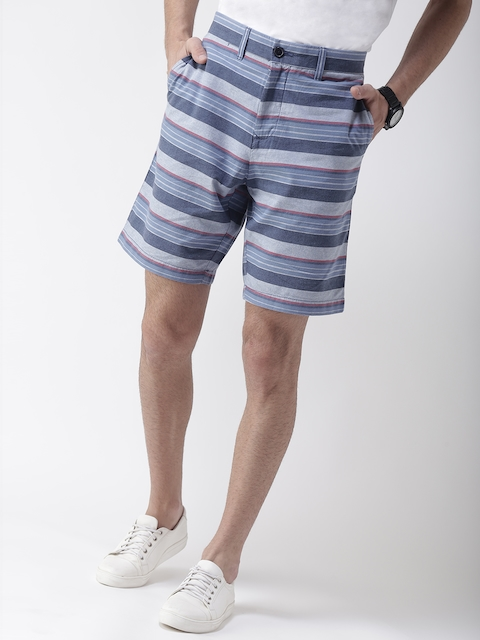 Tommy Hilfiger Men Blue Striped Shorts