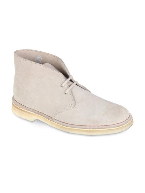 Clarks Men Beige Flat Boots
