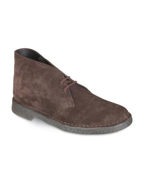 Clarks Men Brown Flat Boots