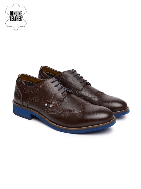Jack & Jones Men Brown Leather Brogues