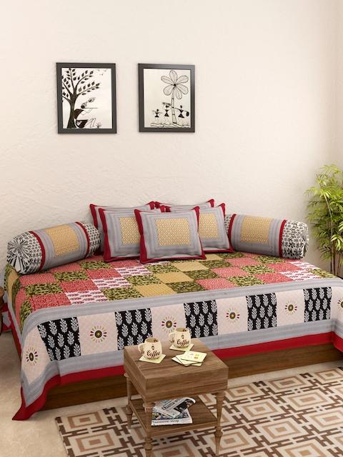 Rajasthan Decor Multicoloured Printed Diwan Set