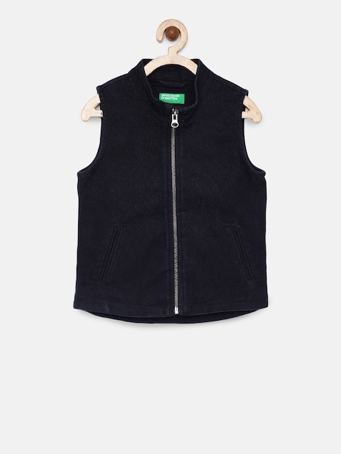 United Colors Of Benetton Boys Navy Blue Waistcoat