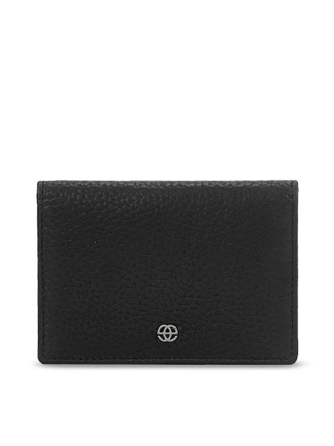 Eske Men Black Solid Leather Card Holder