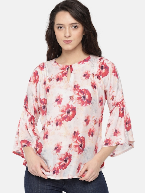 The Kaftan Company Women Pink Printed Top