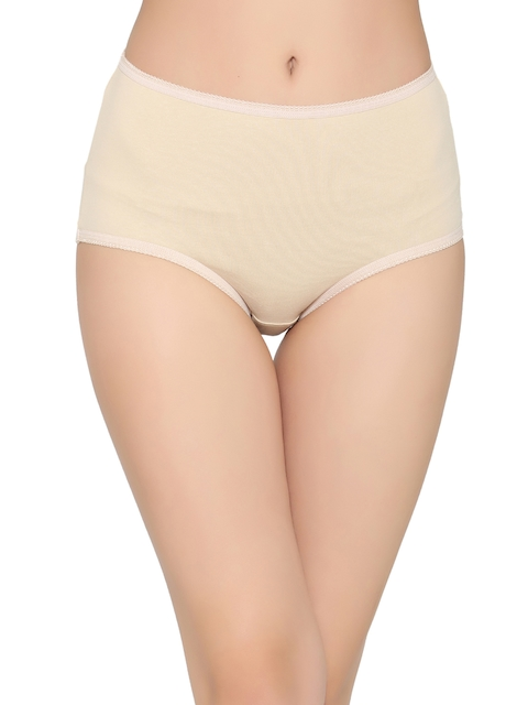 Clovia Women Nude-Coloured Solid Hipster Briefs PN2703P24