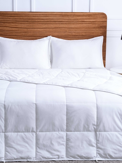 Ddecor White Quilted Double Bed Duvet Cover