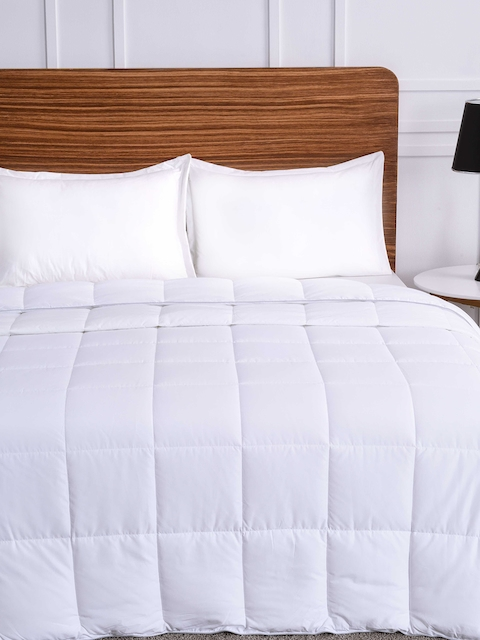 Ddecor White Quilted Single Bed Duvet Cover