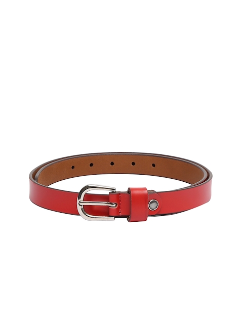 CHISEL Women Red Solid Leather Belt