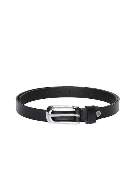 CHISEL Women Black Solid Leather Belt