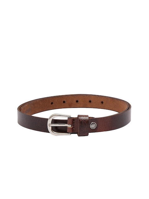 CHISEL Women Brown & Brown Solid Leather Belt