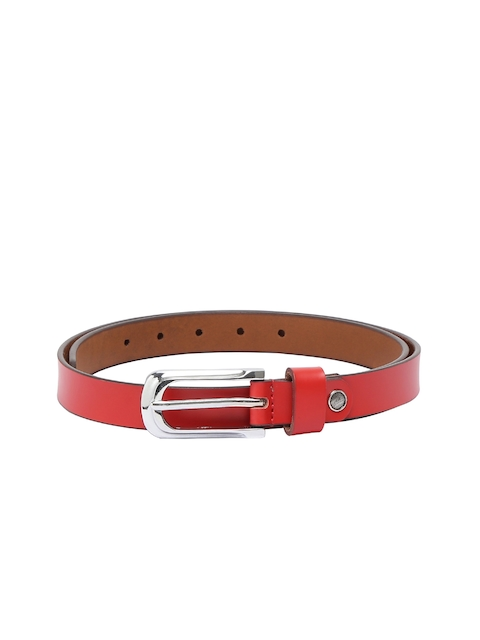 CHISEL Women Red SolidLeather Belt