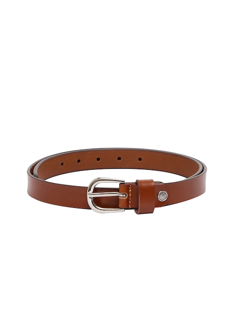 CHISEL Women Tan Brown Solid Leather Belt