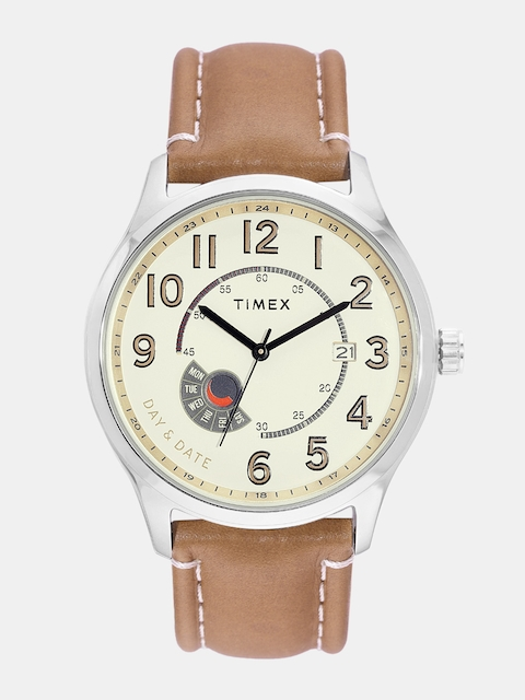 Timex Men Cream-Coloured Analogue Watch TWEG17100
