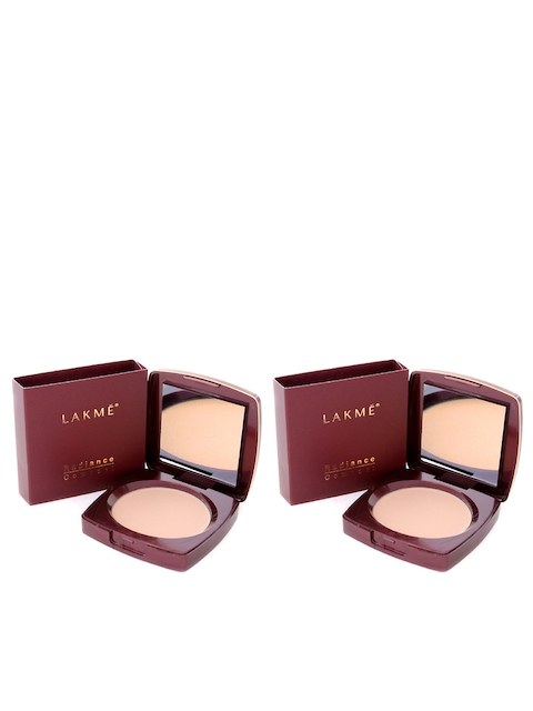 Lakme Set of 2 Radiance Compact Natural Coral