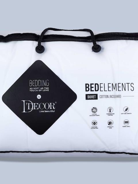 DDecor White Cotton Jacquard Pillow