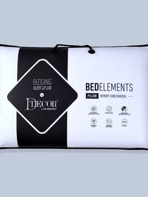 DDecor White Memory Foam Charcoal Pillow