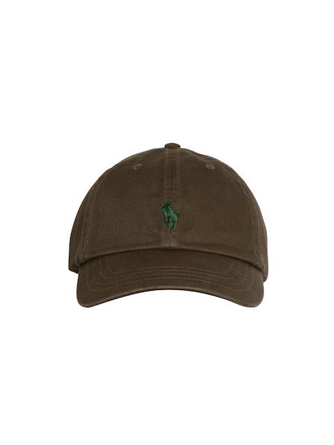 Polo Ralph Lauren Men Coffee Brown Solid Cap with Embroidered Logo