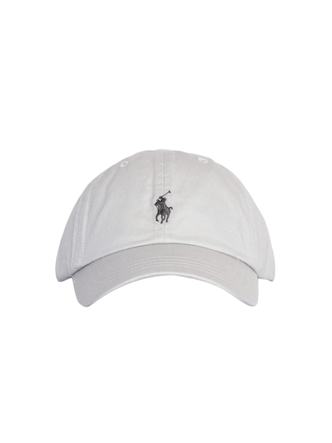 c475810890b Polo Ralph Lauren Men Grey Solid Cap with Embroidered Logo