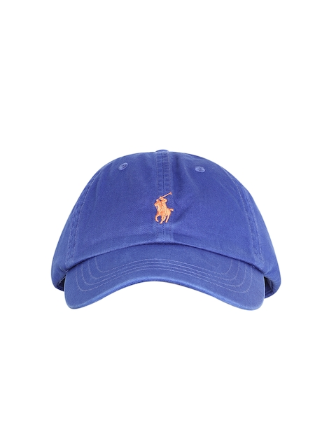 a519b62e75e Polo Ralph Lauren Men Blue Solid Cap with Embroidered Logo