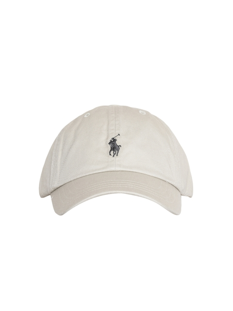 Polo Ralph Lauren Men Beige Solid Cap with Embroidered Logo