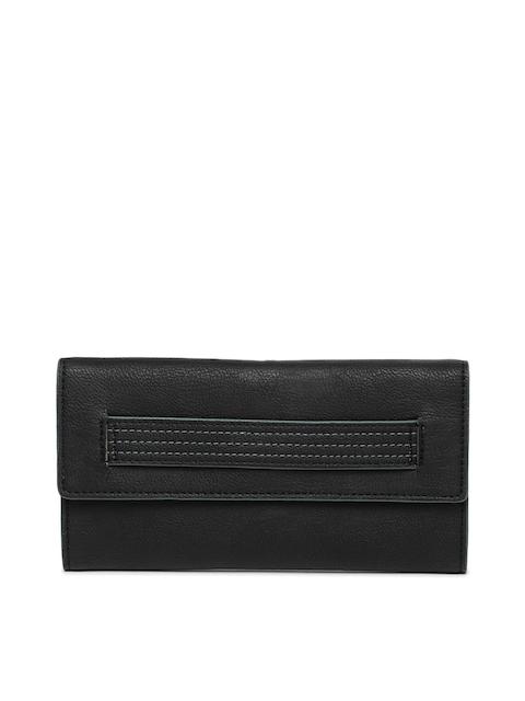 Baggit Women Black Solid Two Fold Wallet