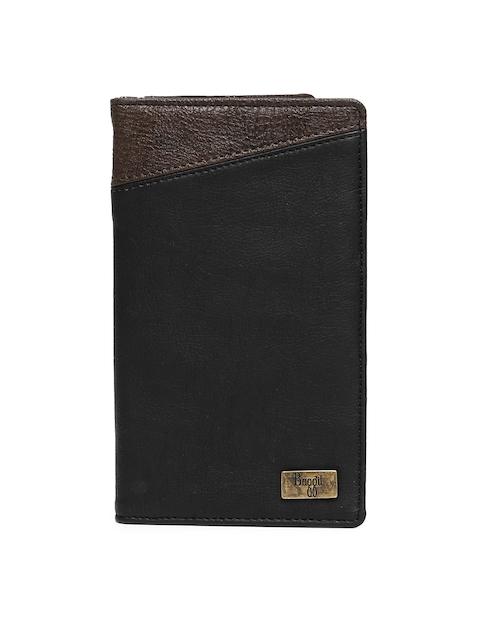 Baggit Men Black & Brown Solid Card Holder