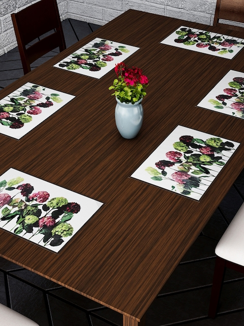 Dreamscape Set Of 6 Multicoloured Floral Printed Table Mats