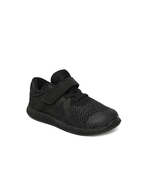 Nike Boys Black NIKE REVOLUTION 4 Running Shoes