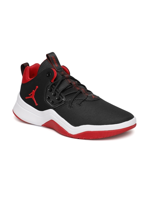 Nike Men Black Jordan DNA Leather Basketball Shoes