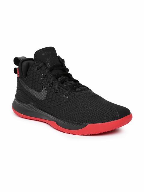 Nike Men Black Lebron Witness III Basketball Shoes