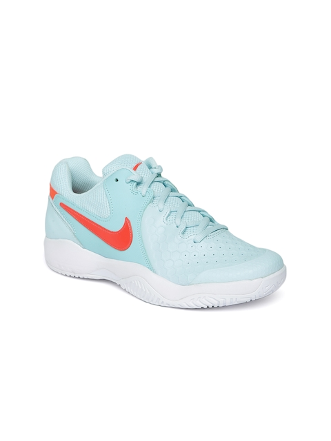 Nike Women Blue AIR ZOOM RESISTANCE Tennis Shoes