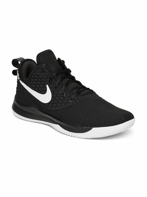 Nike Men Black Lebron Witness III Mid-Top Basketball Shoes