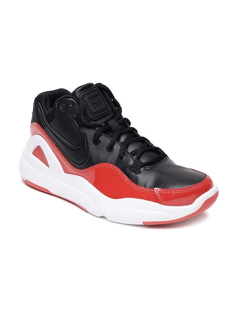 Nike Men Black & Red NIKE DILATTA PREMIUM Basketball Shoes