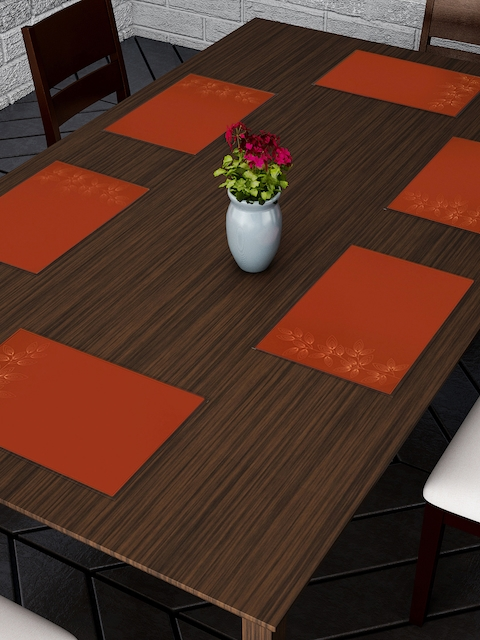 Dreamscape Set of 6 Brown Printed Tablemats