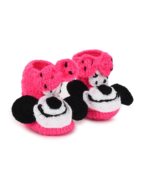 CHUTPUT Kids Pink Woollen Booties