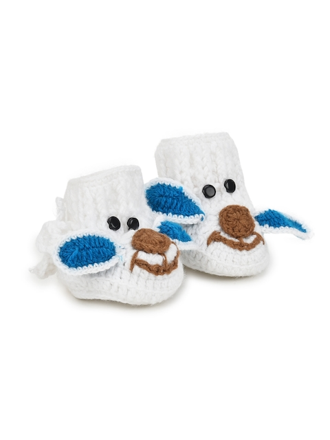 CHUTPUT Kids White Elephant-Shaped Booties