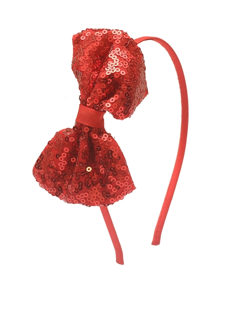 Stoln Girls Red Bow Sequinned Hairband