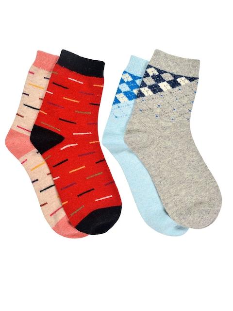 MARC Women Set of 4 Multicoloured Above Ankle-Length Socks