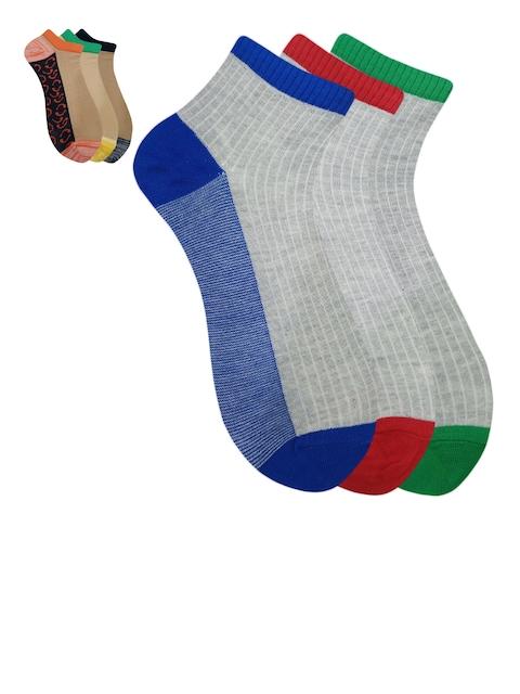Fontana Unisex Pack of 6 Assorted Ankle-Length Socks